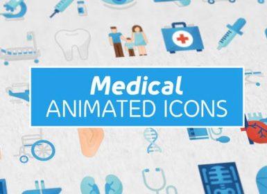 36个医学图标icon动画AE模板